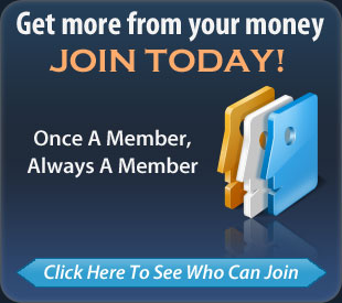 Get more from your money. Join today